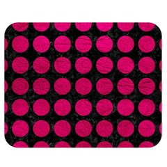 Circles1 Black Marble & Pink Leather (r) Double Sided Flano Blanket (medium)  by trendistuff