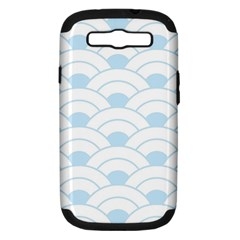 Blue,white,shell,pattern Samsung Galaxy S Iii Hardshell Case (pc+silicone) by 8fugoso