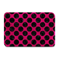Circles2 Black Marble & Pink Leather Plate Mats by trendistuff