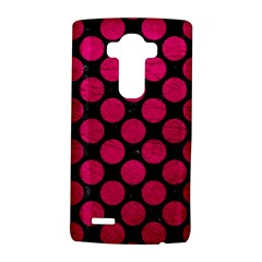 Circles2 Black Marble & Pink Leather (r) Lg G4 Hardshell Case by trendistuff