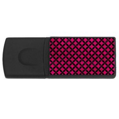 Circles3 Black Marble & Pink Leather Rectangular Usb Flash Drive by trendistuff