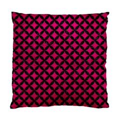 Circles3 Black Marble & Pink Leather Standard Cushion Case (one Side) by trendistuff