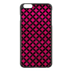 Circles3 Black Marble & Pink Leather Apple Iphone 6 Plus/6s Plus Black Enamel Case by trendistuff