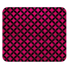 Circles3 Black Marble & Pink Leather Double Sided Flano Blanket (small)  by trendistuff