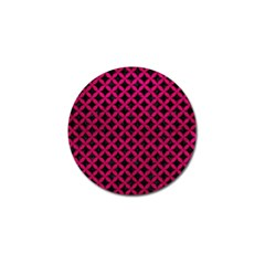 Circles3 Black Marble & Pink Leather (r) Golf Ball Marker (10 Pack) by trendistuff