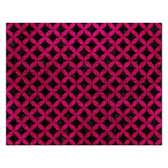 Circles3 Black Marble & Pink Leather (r) Rectangular Jigsaw Puzzl by trendistuff