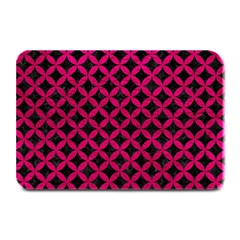 Circles3 Black Marble & Pink Leather (r) Plate Mats by trendistuff