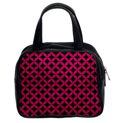 Circles3 Black Marble & Pink Leather (r) Classic Handbags (2 Sides) by trendistuff
