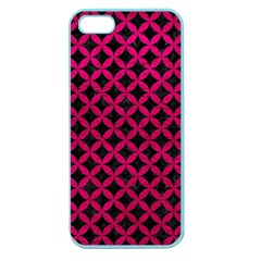 Circles3 Black Marble & Pink Leather (r) Apple Seamless Iphone 5 Case (color) by trendistuff