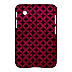 Circles3 Black Marble & Pink Leather (r) Samsung Galaxy Tab 2 (7 ) P3100 Hardshell Case  by trendistuff