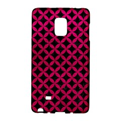Circles3 Black Marble & Pink Leather (r) Galaxy Note Edge by trendistuff