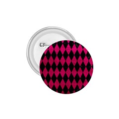 Diamond1 Black Marble & Pink Leather 1 75  Buttons by trendistuff