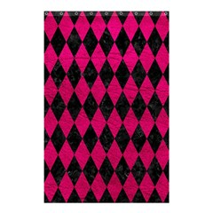 Diamond1 Black Marble & Pink Leather Shower Curtain 48  X 72  (small)  by trendistuff