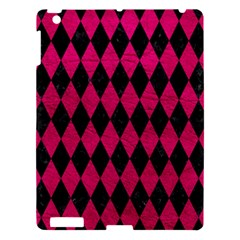 Diamond1 Black Marble & Pink Leather Apple Ipad 3/4 Hardshell Case by trendistuff