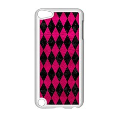 Diamond1 Black Marble & Pink Leather Apple Ipod Touch 5 Case (white) by trendistuff