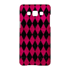 Diamond1 Black Marble & Pink Leather Samsung Galaxy A5 Hardshell Case  by trendistuff