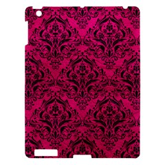 Damask1 Black Marble & Pink Leather Apple Ipad 3/4 Hardshell Case by trendistuff