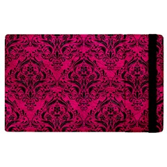 Damask1 Black Marble & Pink Leather Apple Ipad 3/4 Flip Case by trendistuff