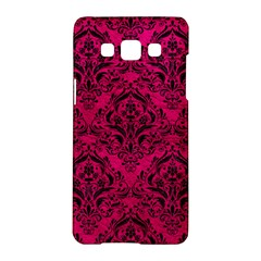 Damask1 Black Marble & Pink Leather Samsung Galaxy A5 Hardshell Case  by trendistuff
