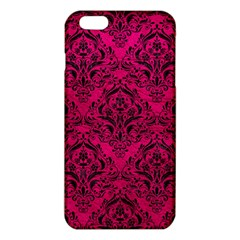 Damask1 Black Marble & Pink Leather Iphone 6 Plus/6s Plus Tpu Case by trendistuff