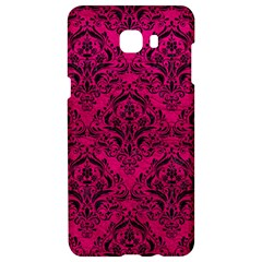 Damask1 Black Marble & Pink Leather Samsung C9 Pro Hardshell Case  by trendistuff