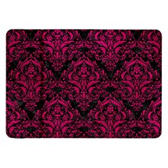 Damask1 Black Marble & Pink Leather (r) Samsung Galaxy Tab 8 9  P7300 Flip Case by trendistuff