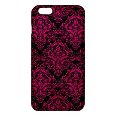 Damask1 Black Marble & Pink Leather (r) Iphone 6 Plus/6s Plus Tpu Case by trendistuff