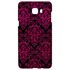 Damask1 Black Marble & Pink Leather (r) Samsung C9 Pro Hardshell Case  by trendistuff