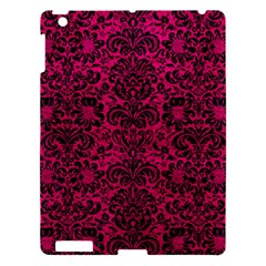 Damask2 Black Marble & Pink Leather Apple Ipad 3/4 Hardshell Case by trendistuff