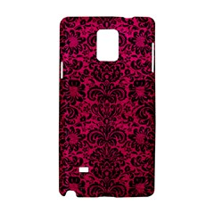 Damask2 Black Marble & Pink Leather Samsung Galaxy Note 4 Hardshell Case by trendistuff
