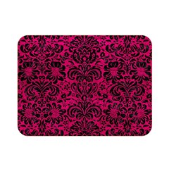 Damask2 Black Marble & Pink Leather Double Sided Flano Blanket (mini)  by trendistuff