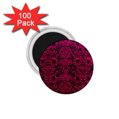 Damask2 Black Marble & Pink Leather (r) 1 75  Magnets (100 Pack)  by trendistuff
