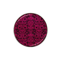 Damask2 Black Marble & Pink Leather (r) Hat Clip Ball Marker (10 Pack) by trendistuff