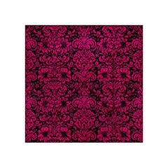 Damask2 Black Marble & Pink Leather (r) Acrylic Tangram Puzzle (4  X 4 ) by trendistuff