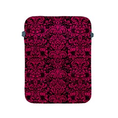 Damask2 Black Marble & Pink Leather (r) Apple Ipad 2/3/4 Protective Soft Cases by trendistuff