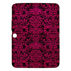 Damask2 Black Marble & Pink Leather (r) Samsung Galaxy Tab 3 (10 1 ) P5200 Hardshell Case  by trendistuff