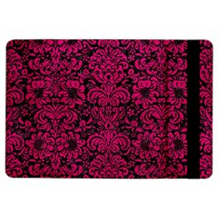 Damask2 Black Marble & Pink Leather (r) Ipad Air 2 Flip by trendistuff