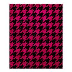 Houndstooth1 Black Marble & Pink Leather Shower Curtain 60  X 72  (medium)  by trendistuff