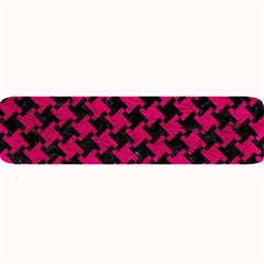 Houndstooth2 Black Marble & Pink Leather Large Bar Mats by trendistuff