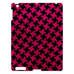 Houndstooth2 Black Marble & Pink Leather Apple Ipad 3/4 Hardshell Case by trendistuff