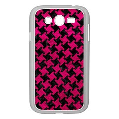 Houndstooth2 Black Marble & Pink Leather Samsung Galaxy Grand Duos I9082 Case (white) by trendistuff