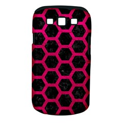 Hexagon2 Black Marble & Pink Leather (r) Samsung Galaxy S Iii Classic Hardshell Case (pc+silicone) by trendistuff