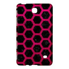 Hexagon2 Black Marble & Pink Leather (r) Samsung Galaxy Tab 4 (8 ) Hardshell Case  by trendistuff