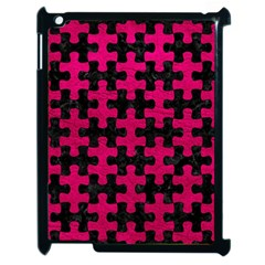 Puzzle1 Black Marble & Pink Leather Apple Ipad 2 Case (black) by trendistuff