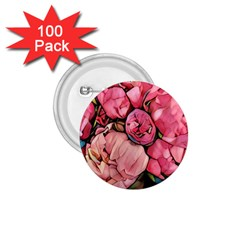 Beautiful Peonies 1 75  Buttons (100 Pack)  by 8fugoso