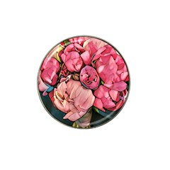 Beautiful Peonies Hat Clip Ball Marker (4 Pack) by 8fugoso