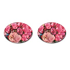 Beautiful Peonies Cufflinks (oval) by 8fugoso