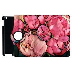 Beautiful Peonies Apple Ipad 3/4 Flip 360 Case by 8fugoso