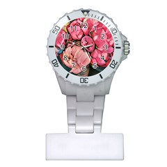 Beautiful Peonies Plastic Nurses Watch by 8fugoso