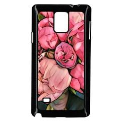 Beautiful Peonies Samsung Galaxy Note 4 Case (black) by 8fugoso